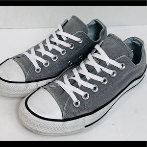 Gray double tongue converse, sz 7